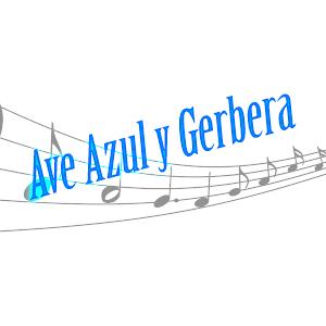 Ave Azul Y Gerbera